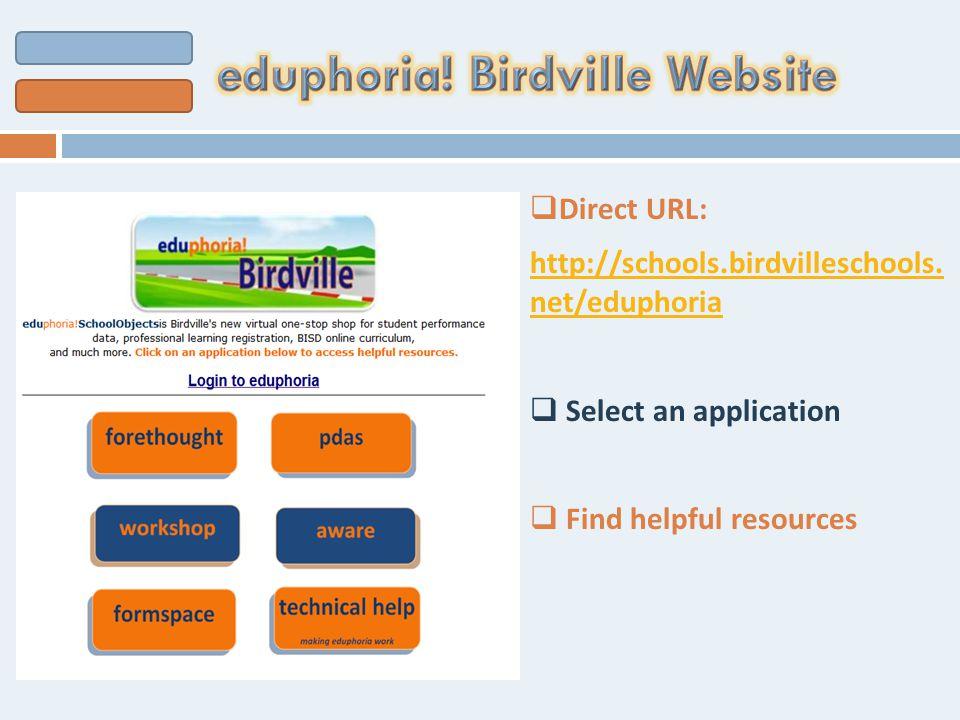  Direct URL: http://schools.birdvilleschools.