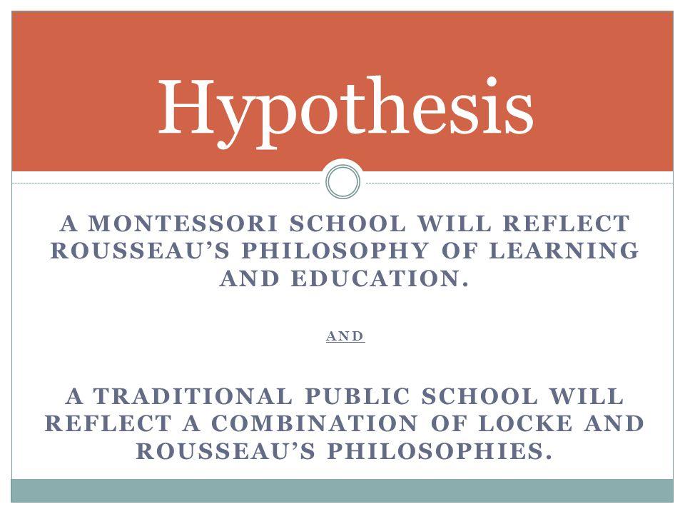 Montessori School Public School Winners LOCKE 6 Locke 1 Rousseau ROUSSEAU 5 Rousseau 3 Locke