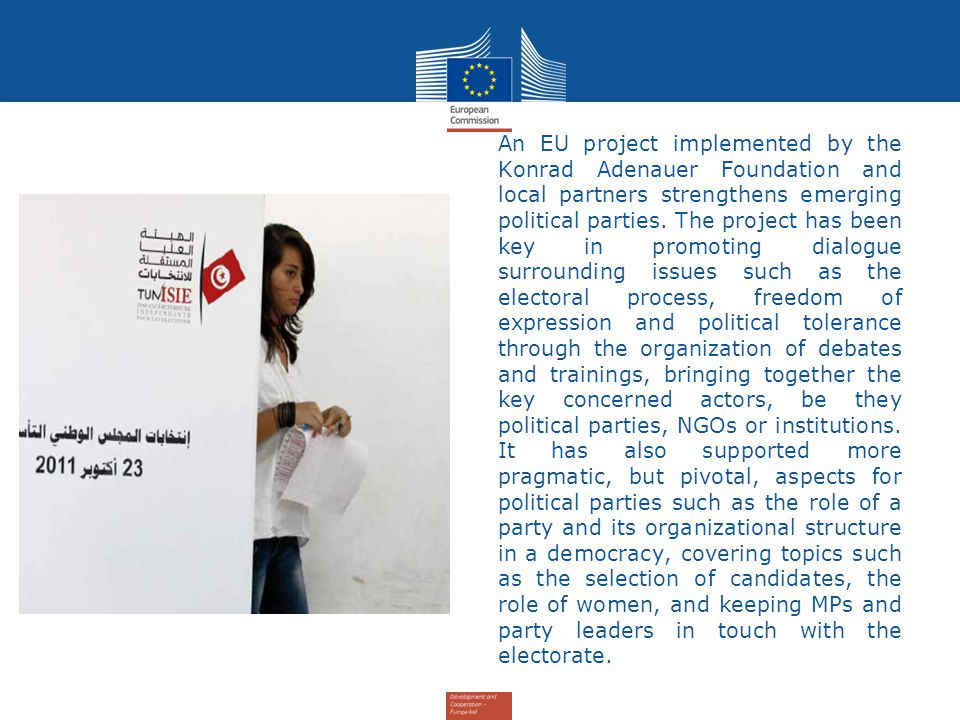 An EU project implemented by the Konrad Adenauer Foundation and local partners strengthens emerging political parties.