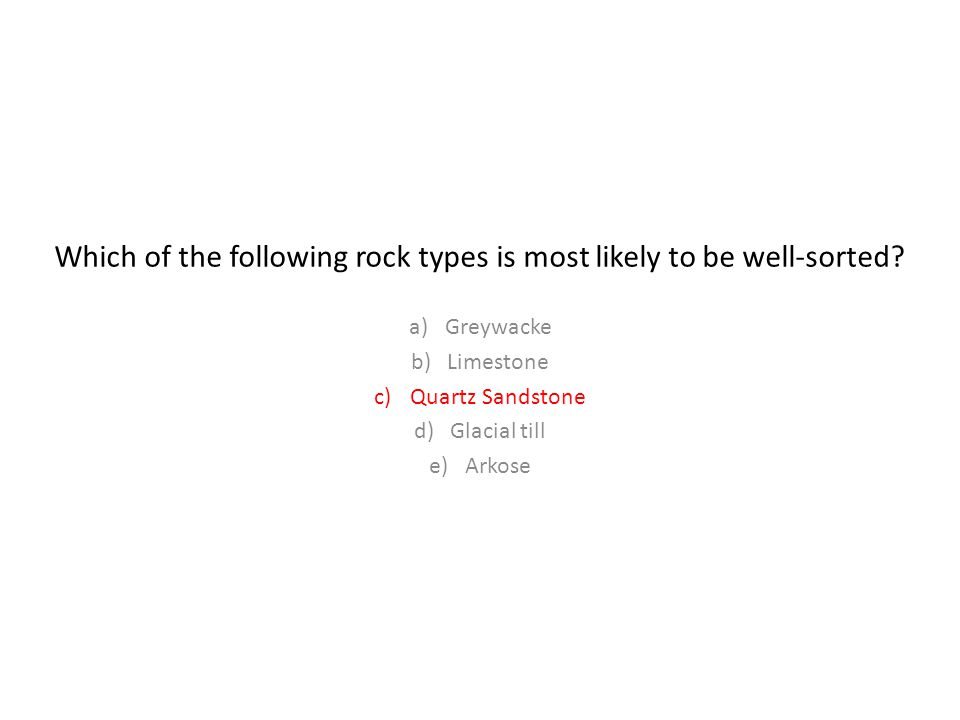 Which of the following rock types is most likely to be well-sorted.