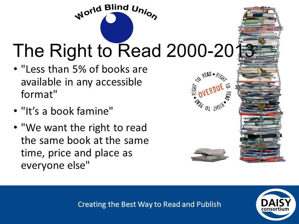 Creating the Best Way to Read and Publish The Right to Read 2000-2013