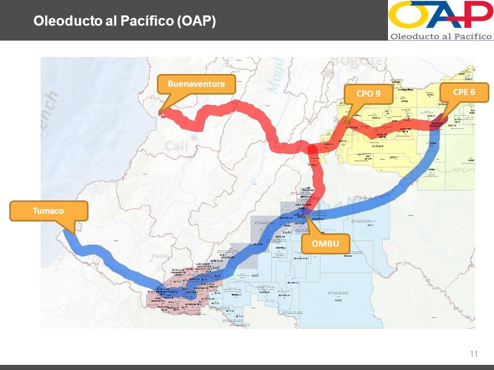Oleoducto al Pacífico (OAP) 11 Buenaventura Tumaco CPE 6 CPO 9 OMBU