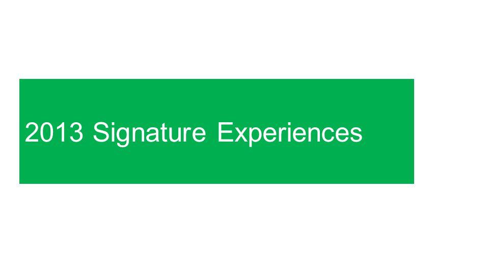 2013 Signature Experiences
