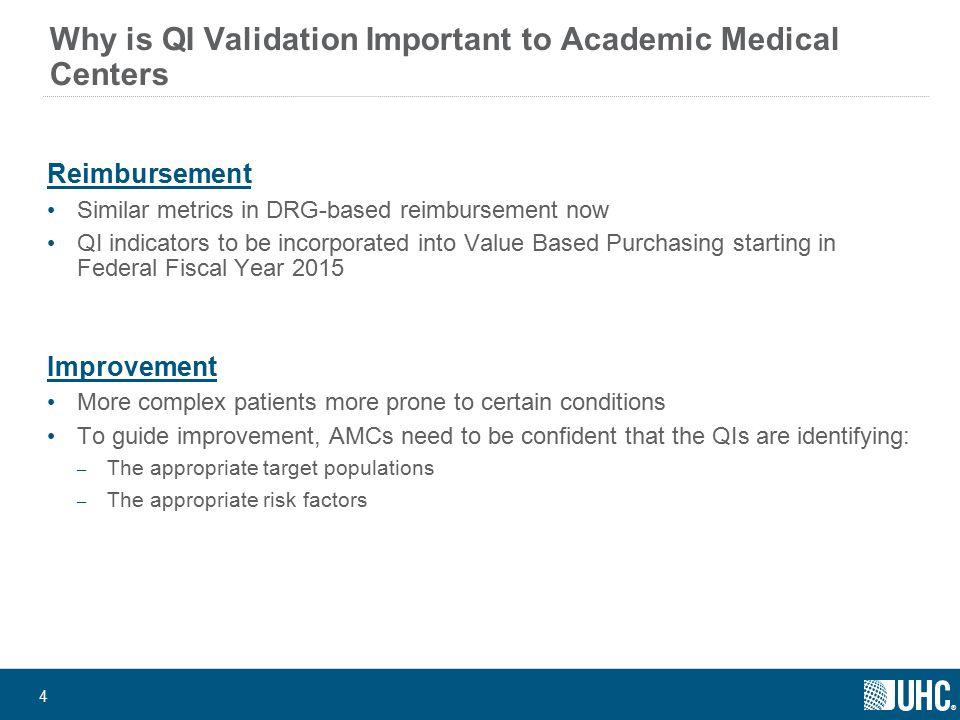 ® 35 Why other providers should be interested in QI Validation Metrics will eventually affect all provider types Long term care, ambulatory surgery, others Value Based Purchasing extension into episodes of care; improvement will move into an extended collaborative effort across these care settings Pace of usage will only increase over time as budget constraints increase ICD-10 provides an opportunity to reset the slate Where do you want to be.