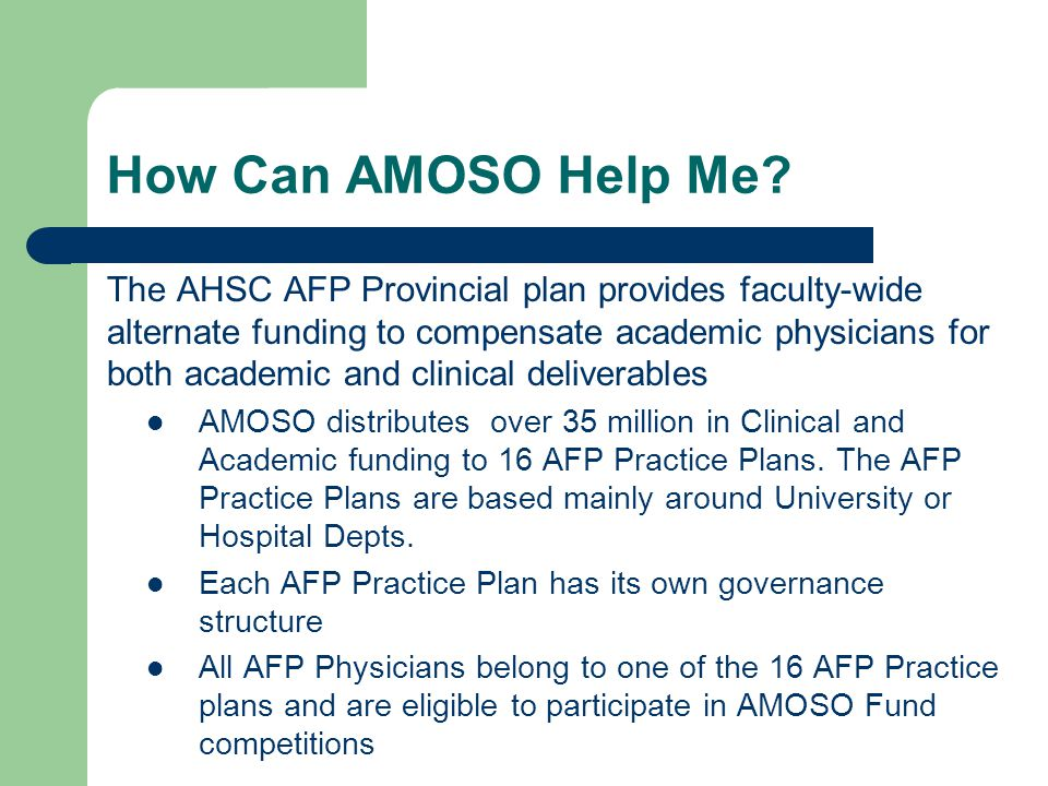 AMOSO Innovation Fund Projects can be up to 2 years in length.