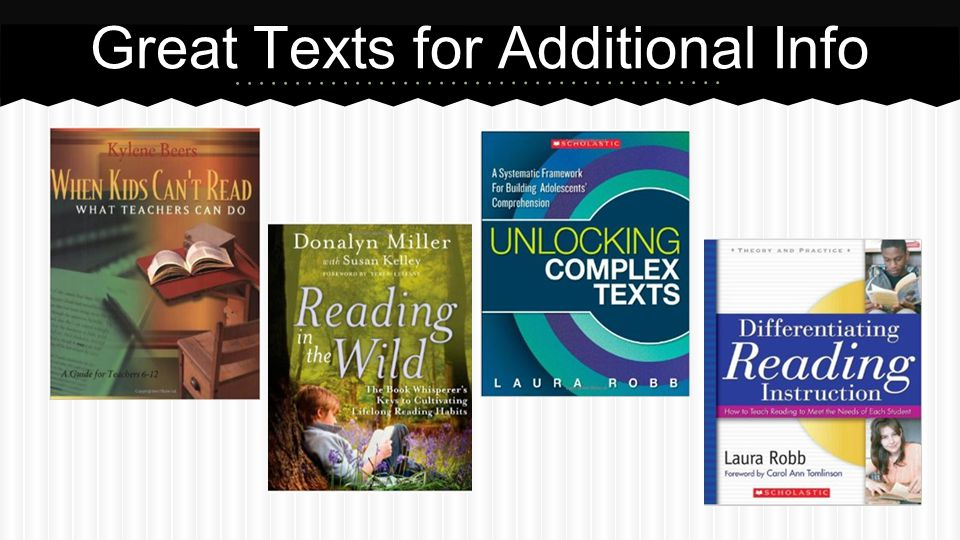 Great Texts for Additional Info