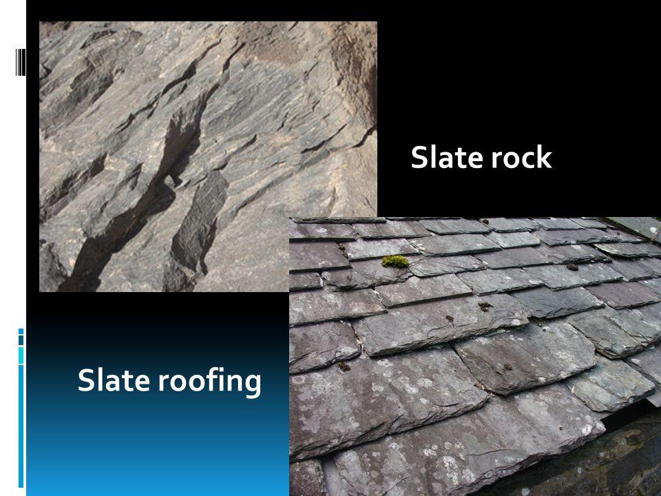 Slate rock Slate roofing