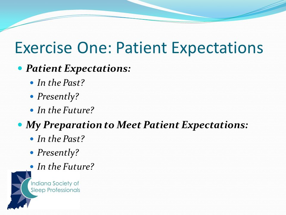 Exercise One: Patient Expectations Patient Expectations: In the Past.