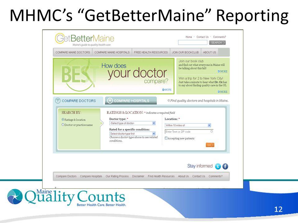 MHMC's GetBetterMaine Reporting 12