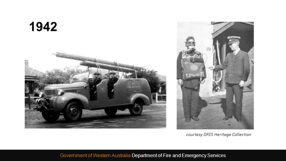 1942 Government of Western Australia Department of Fire and Emergency Services courtesy DFES Heritage Collection