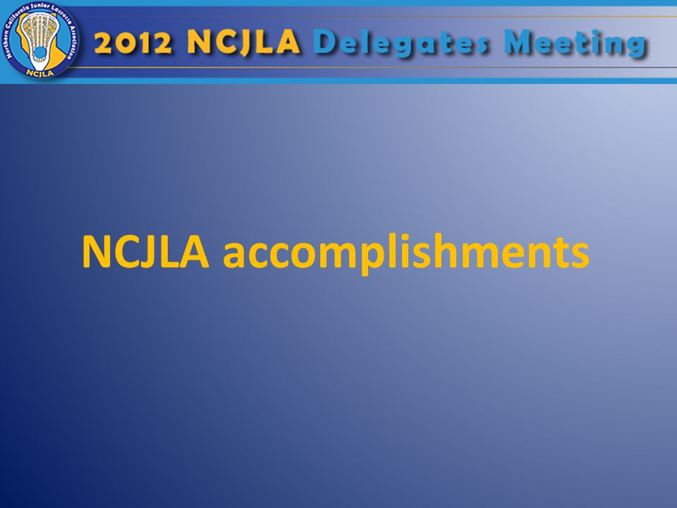 NCJLA accomplishments