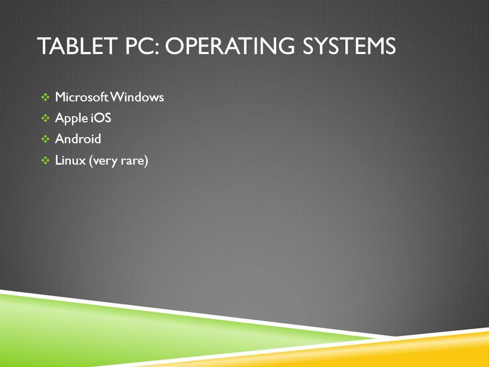 Samsung Series 7 Slate PC Screen: 11.6 Multi-Touch w/ Stylus Wireless: WIFI-n & 3G Keyboard: Add-On Camera: Front & Rear Platform: MS Windows 8 Battery: (no specs offered !?!) CPU & RAM: Intel Core i5, 4GB HDD: 128GB SSD Price: Approx $1,350