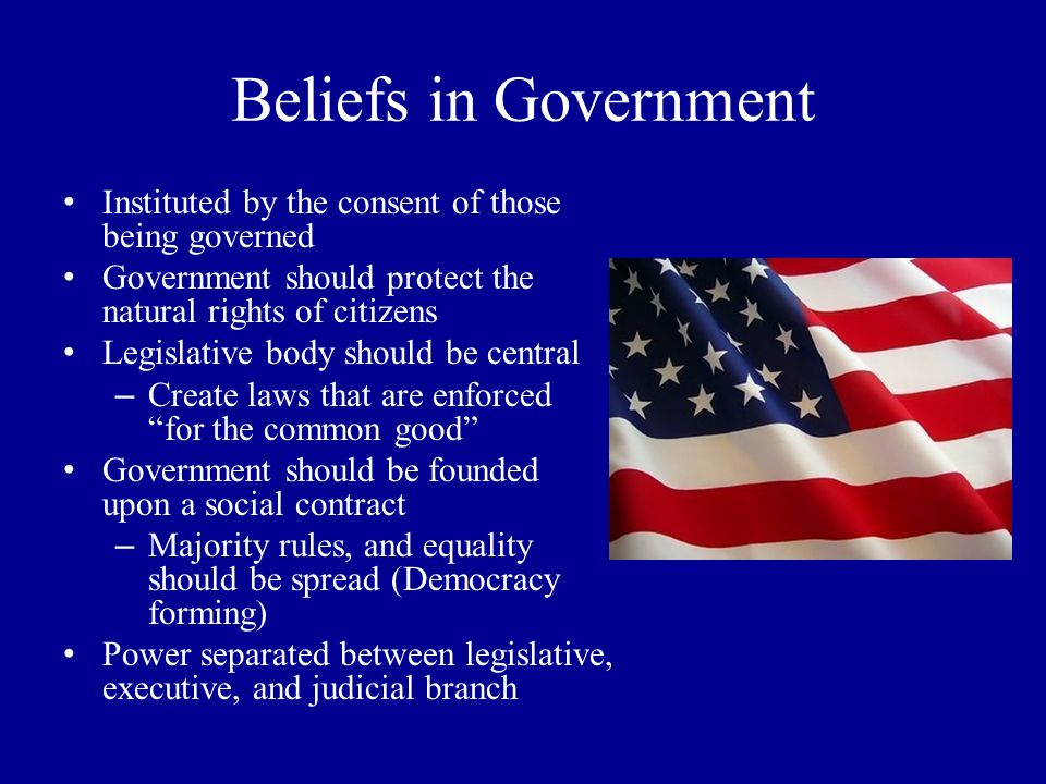 New Ideas Popularized the idea of natural rights -All people are born with the rights of life, liberty and property Promoted religious freedom for all -A Letter Concerning Toleration Social Contract - Argued that the people should form a neutral judge to protect the natural rights