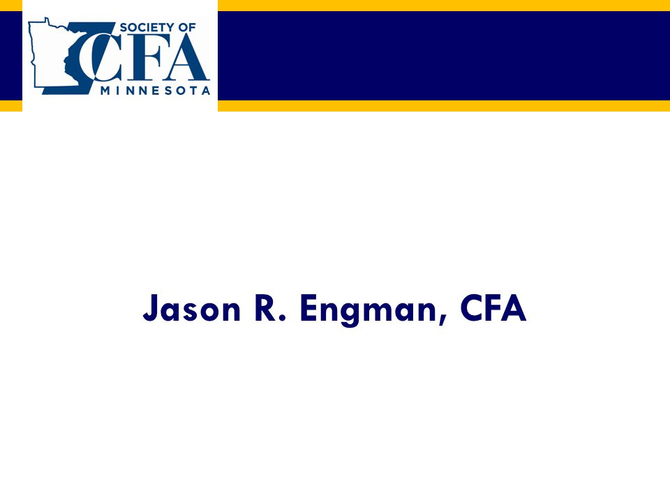 Jason R. Engman, CFA