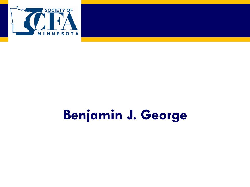 Benjamin J. George