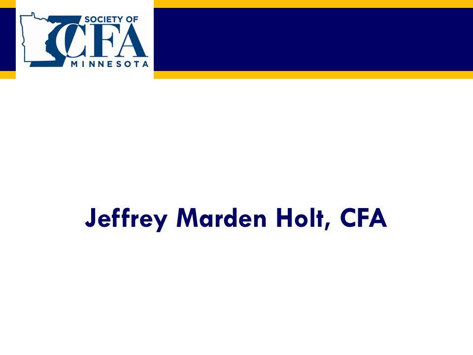 Jeffrey Marden Holt, CFA