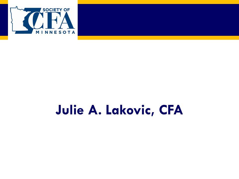 Julie A. Lakovic, CFA