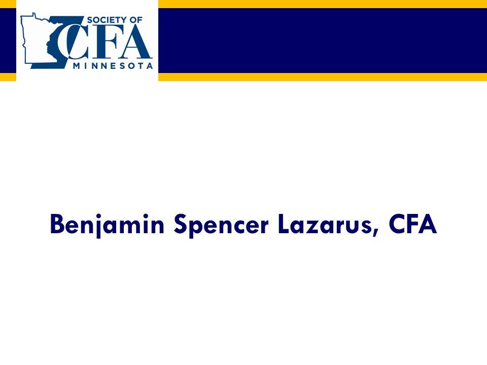 Benjamin Spencer Lazarus, CFA