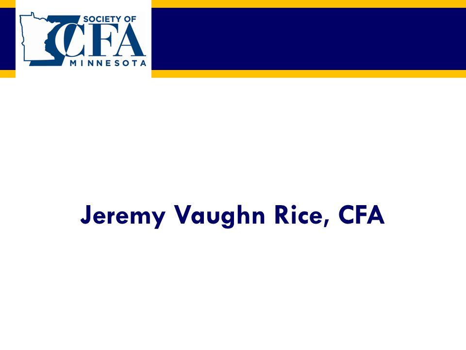Jeremy Vaughn Rice, CFA