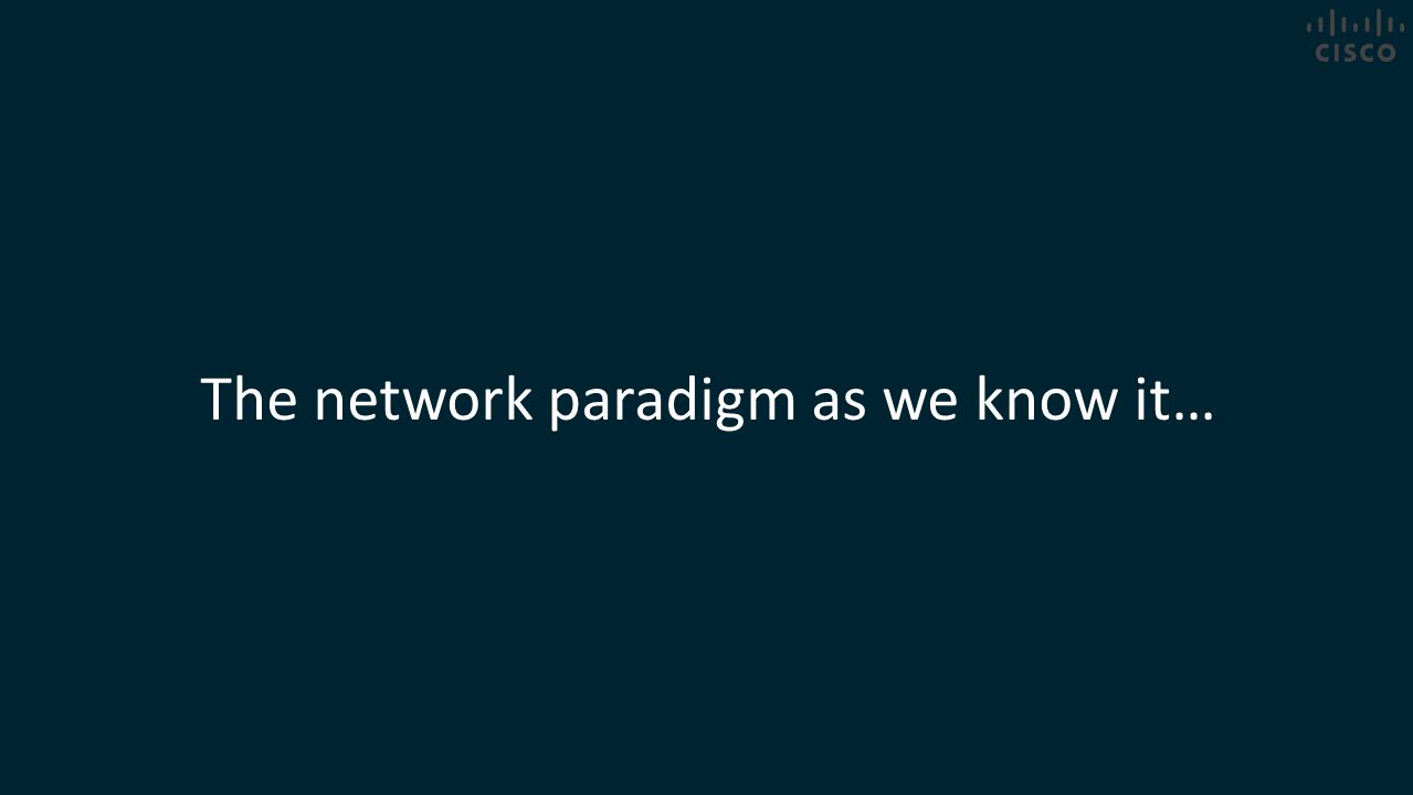 The network paradigm as we know it…