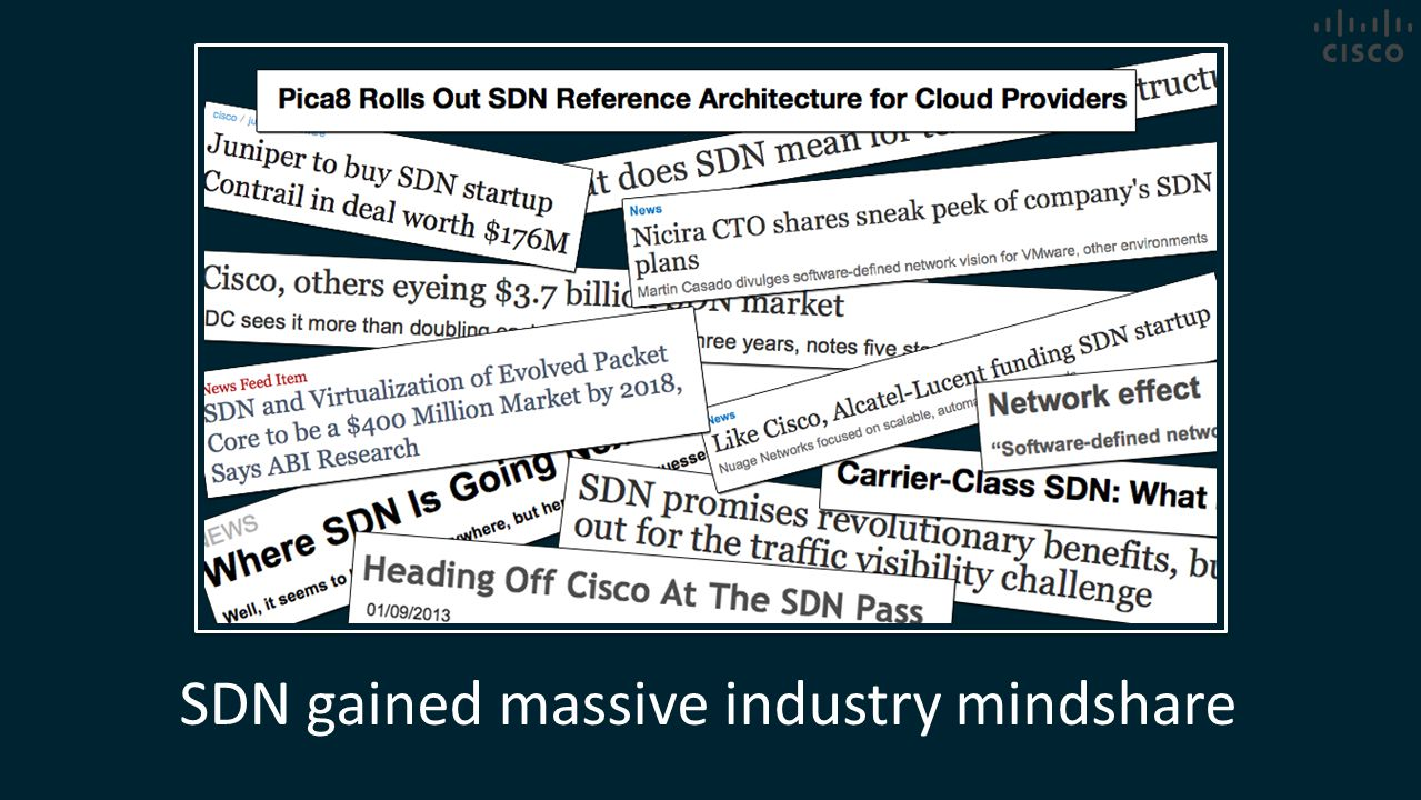 SDN gained massive industry mindshare