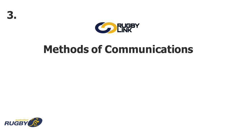 Methods of Communications 3.