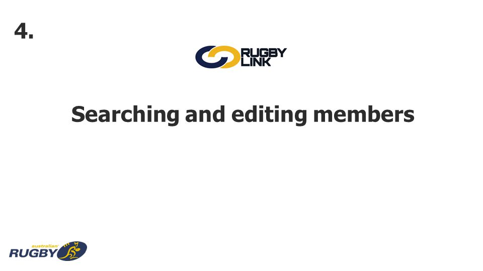 Searching and editing members 4.