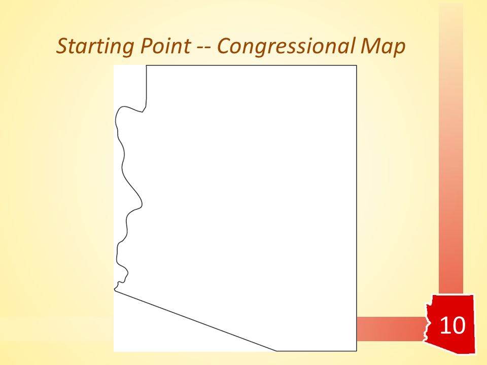 Starting Point -- Congressional Map 10