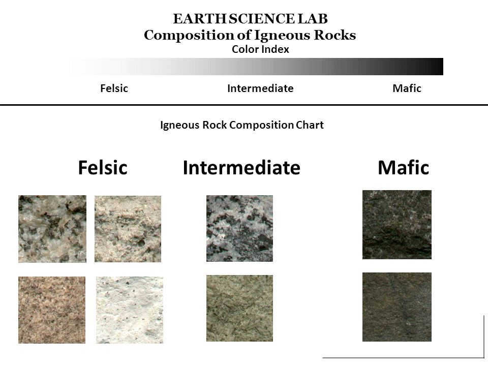 Foliation Mineral layers, observed when identifying a metamorphic rock Increased strain, the foliation becomes more intense, the mineral layers become thicker The foliated rock types that form under these conditions are called schist or gneiss, depending on their texture Schist is finely foliated Whereas gneiss is organized in wide bands of minerals