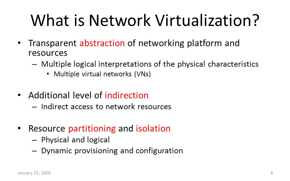 What is Network Virtualization.