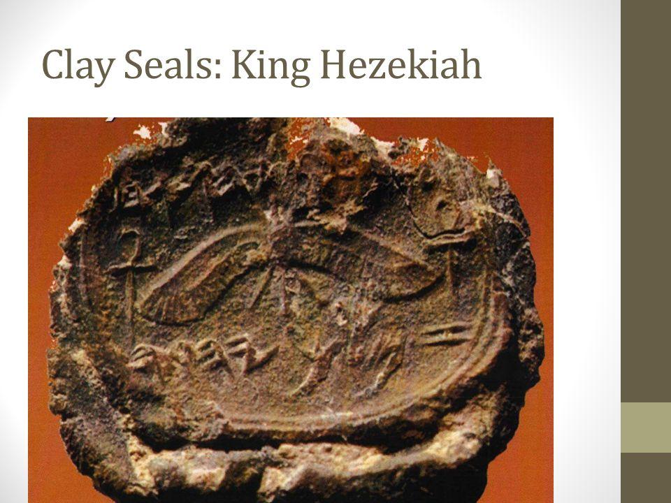 Clay Seals: King Ahaz