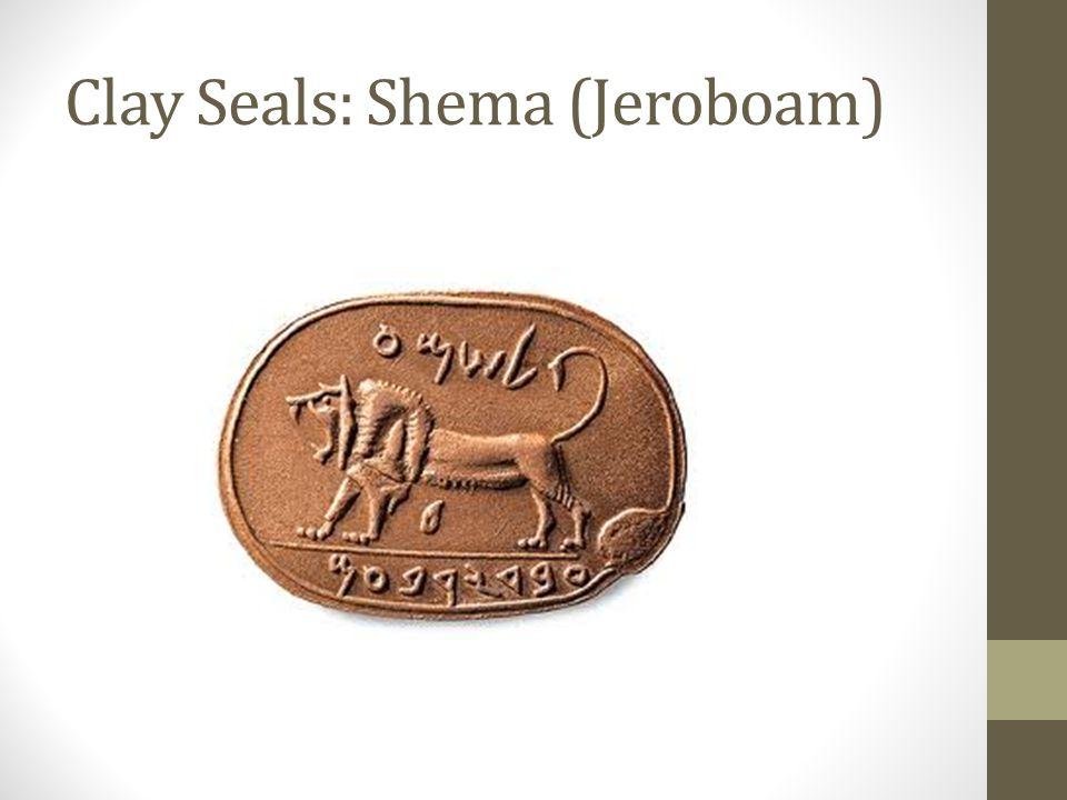 Clay Seals: King Manasseh