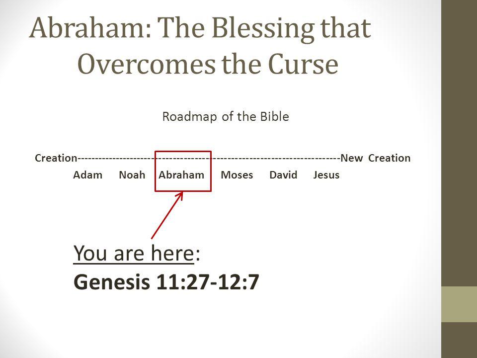 The Great Reversal Creation Gen 1-2 Good Blessing Blessed Very good Fall Gen 3 Abraham Gen 12:1-3 Curse Bless Blessing Bless Blessed Died