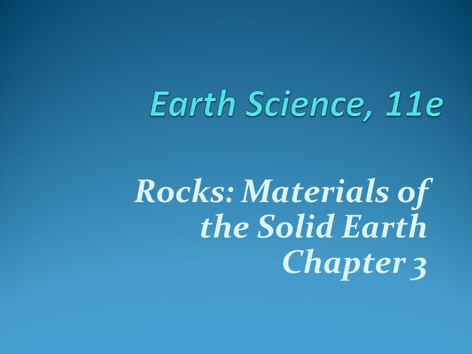 Rock cycle  Shows the interrelationships among the three rock types  Earth as a system: the rock cycle Magma Crystallization Igneous rock Weathering, transportation, and deposition