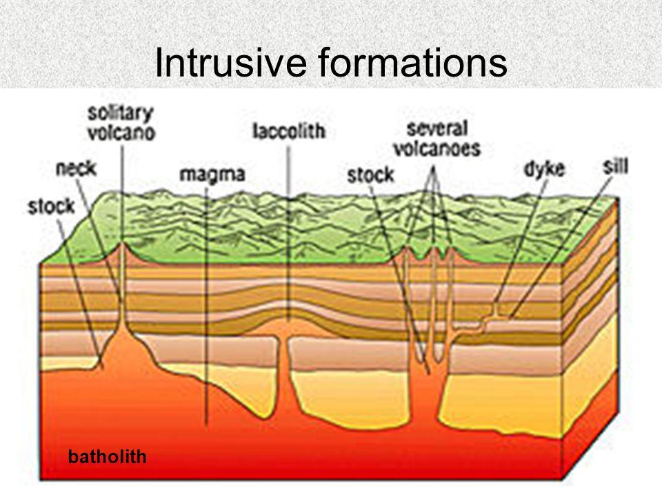 Intrusive formations batholith