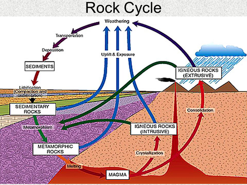 Igneous Rock Textures Coarse grained – slow loss of heat by subsurface magma results in large, well- developed crystals (rough granite)