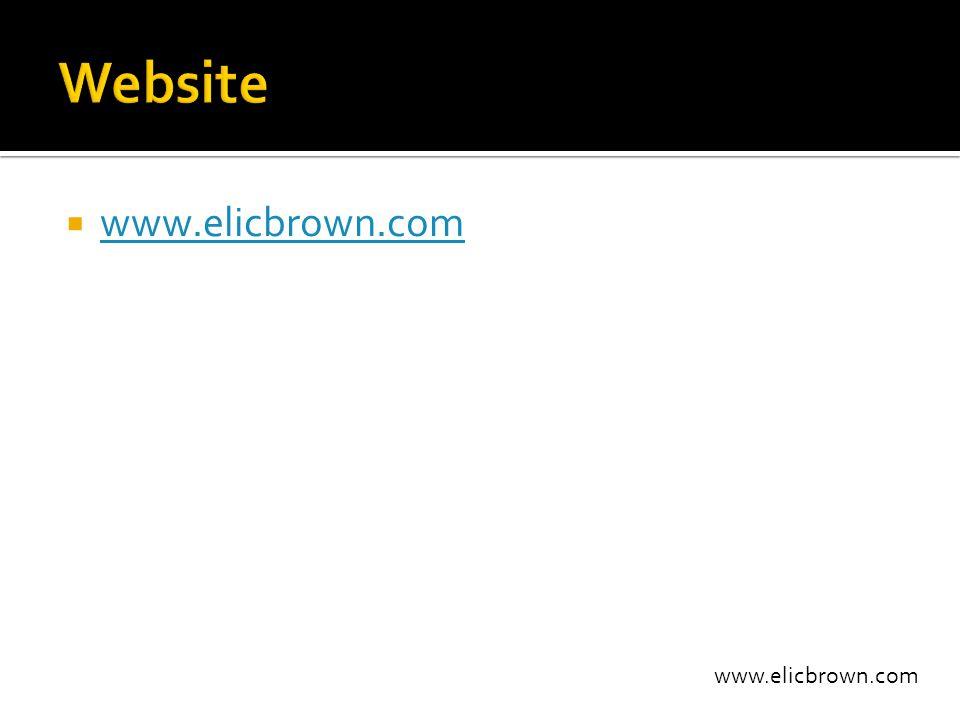 www.elicbrown.com  www.elicbrown.com www.elicbrown.com