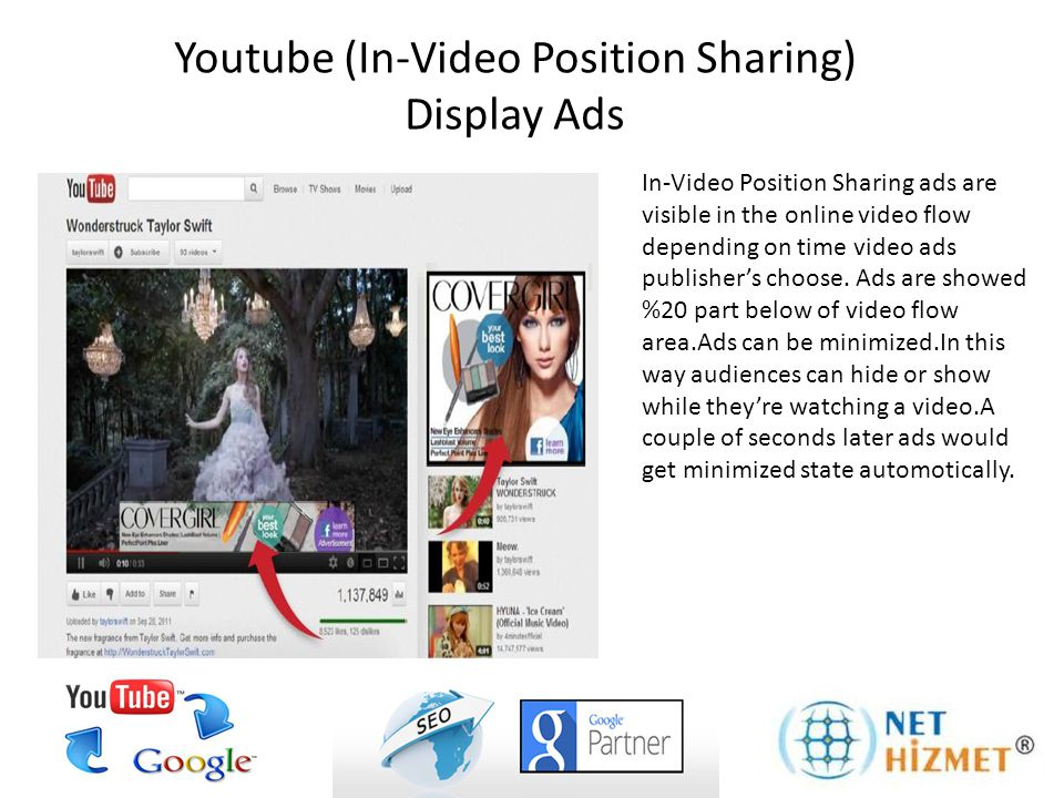 In-Video Position Sharing ads are visible in the online video flow depending on time video ads publisher's choose. Ads are showed %20 part below of vi