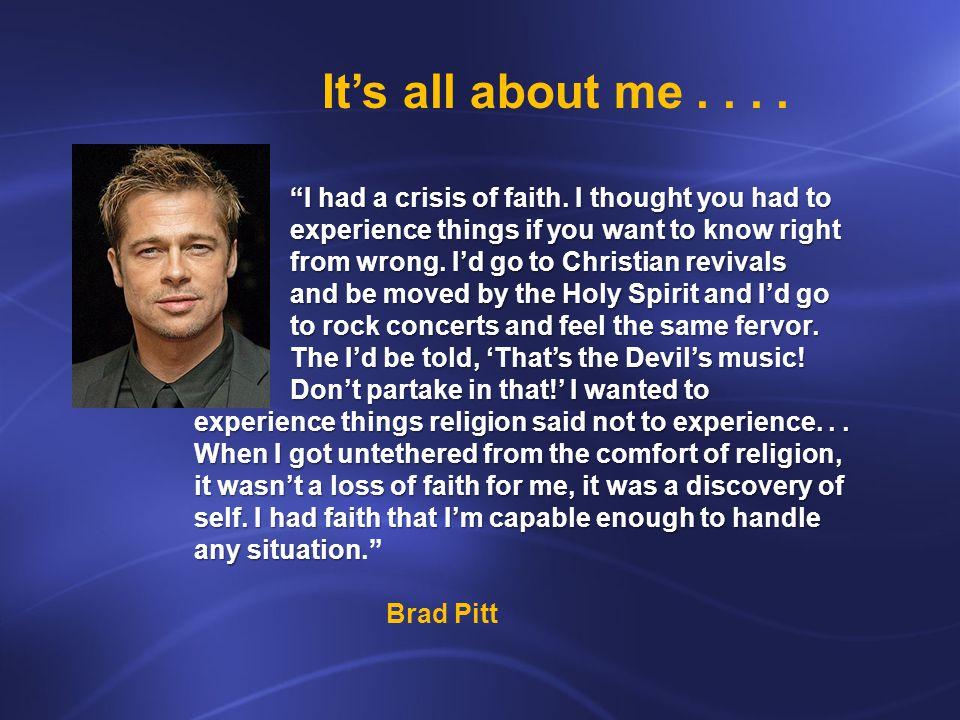 I had a crisis of faith.
