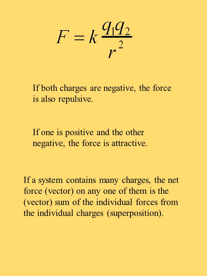 Quiz 1 Two equal charges are 1 meter apart.