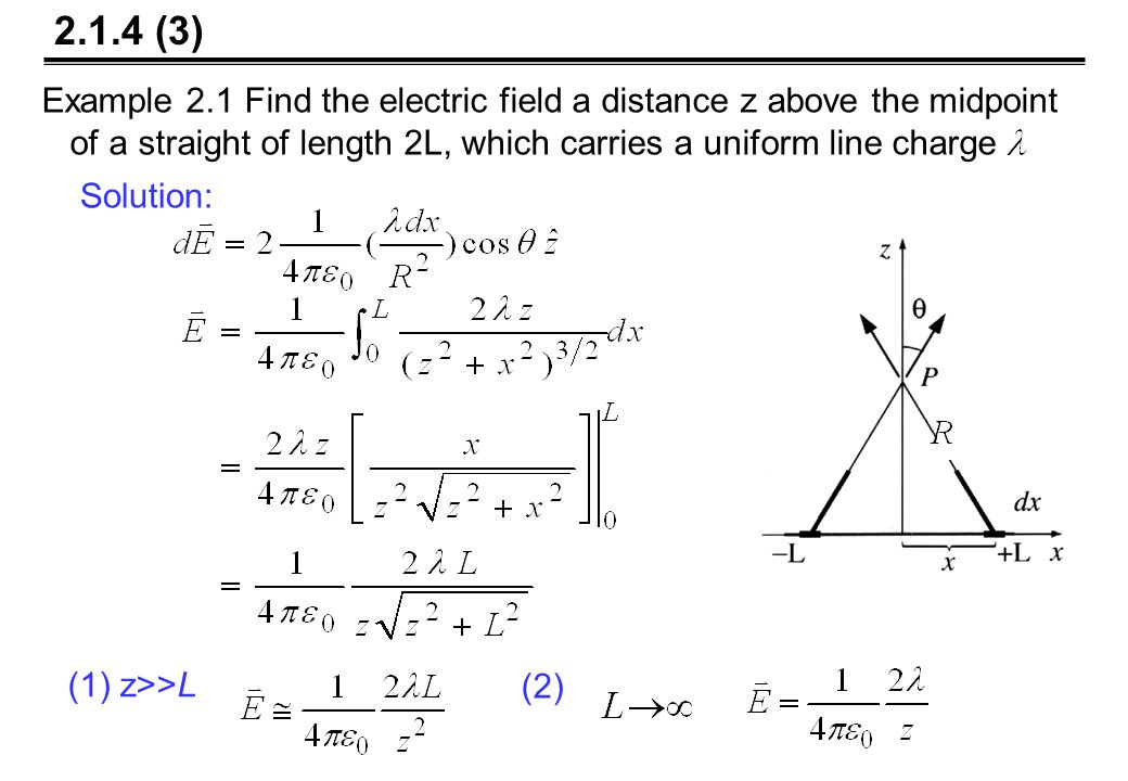 Example 2.5 Two infinite parallel planes carry equal but opposite uniform charge densities.Find the field in each of the three regions.