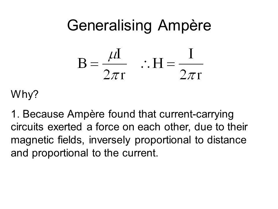 Generalising Ampère Why. 1.