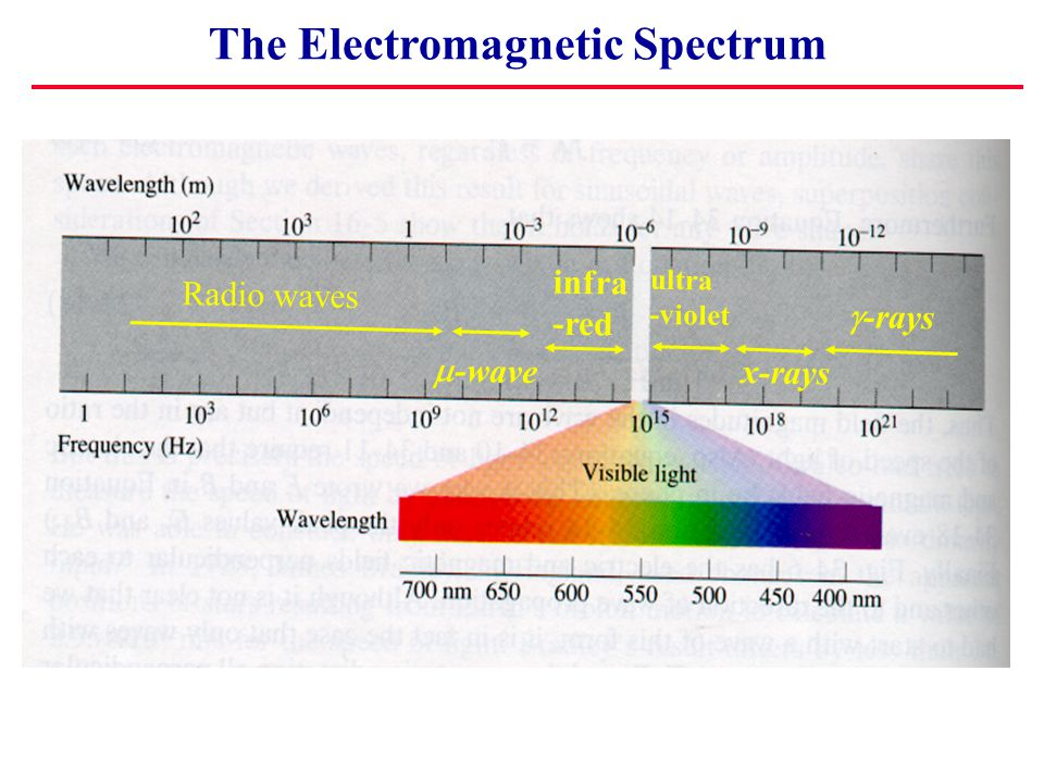 Plane Electromagnetic Waves x EyEy BzBz Notes: Waves are in Phase, but fields oriented at 90 0.