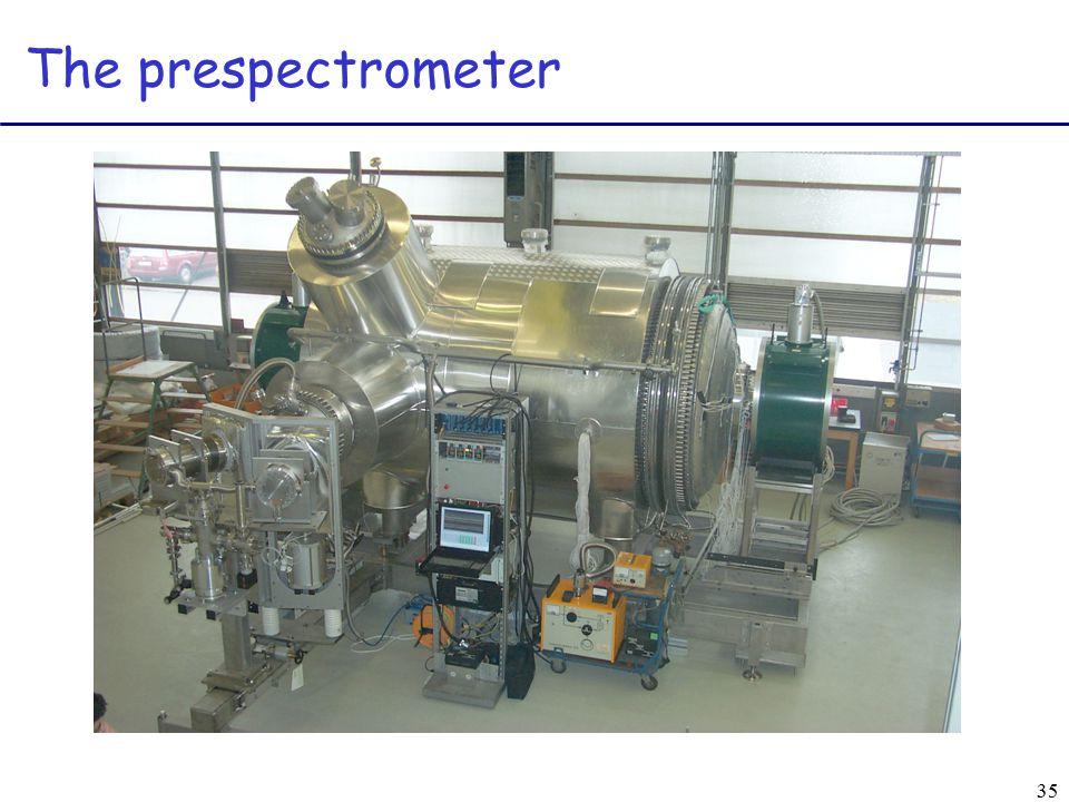 35 The prespectrometer