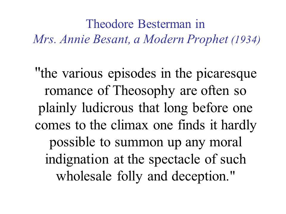 Theodore Besterman in Mrs.