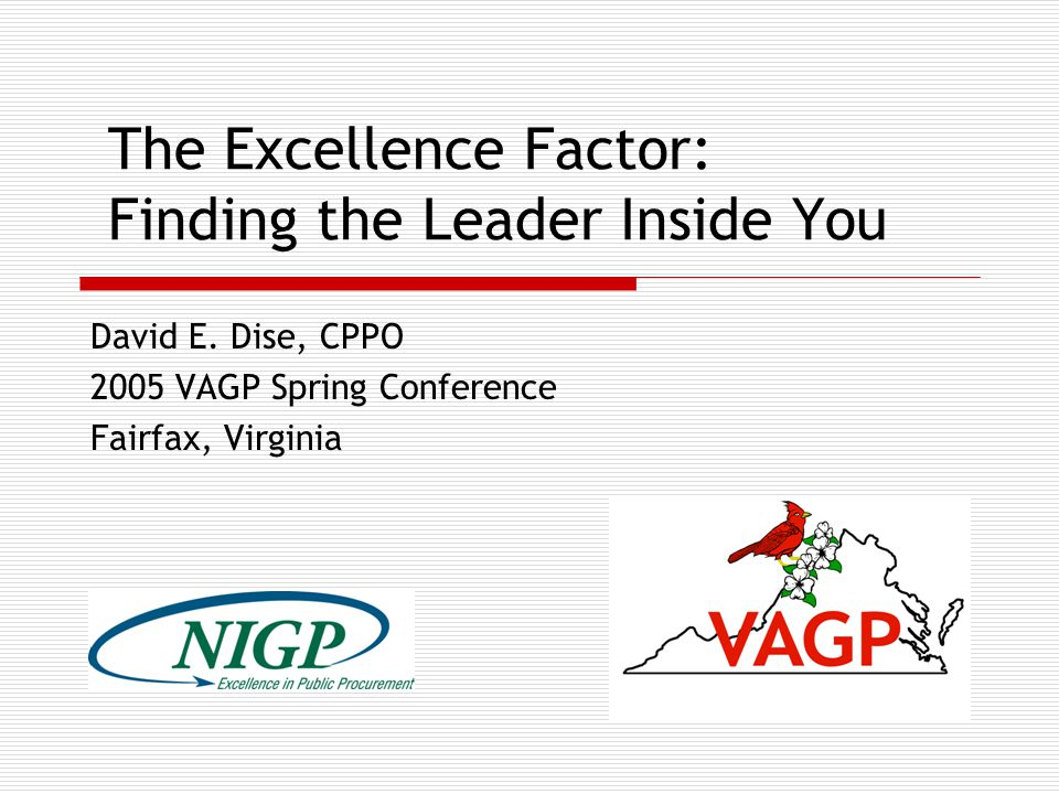 The Excellence Factor: Finding the Leader Inside You David E.
