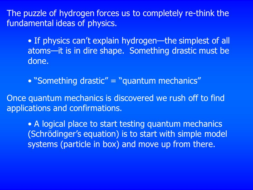 The puzzle of hydrogen forces us to completely re-think the fundamental ideas of physics.