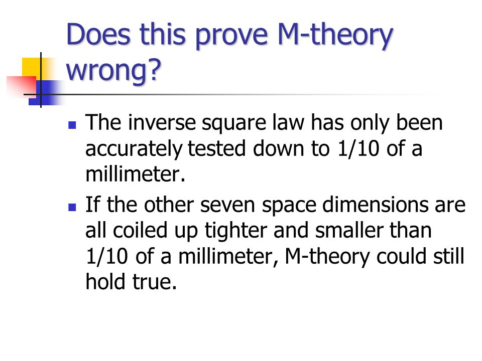 Does this prove M-theory wrong.