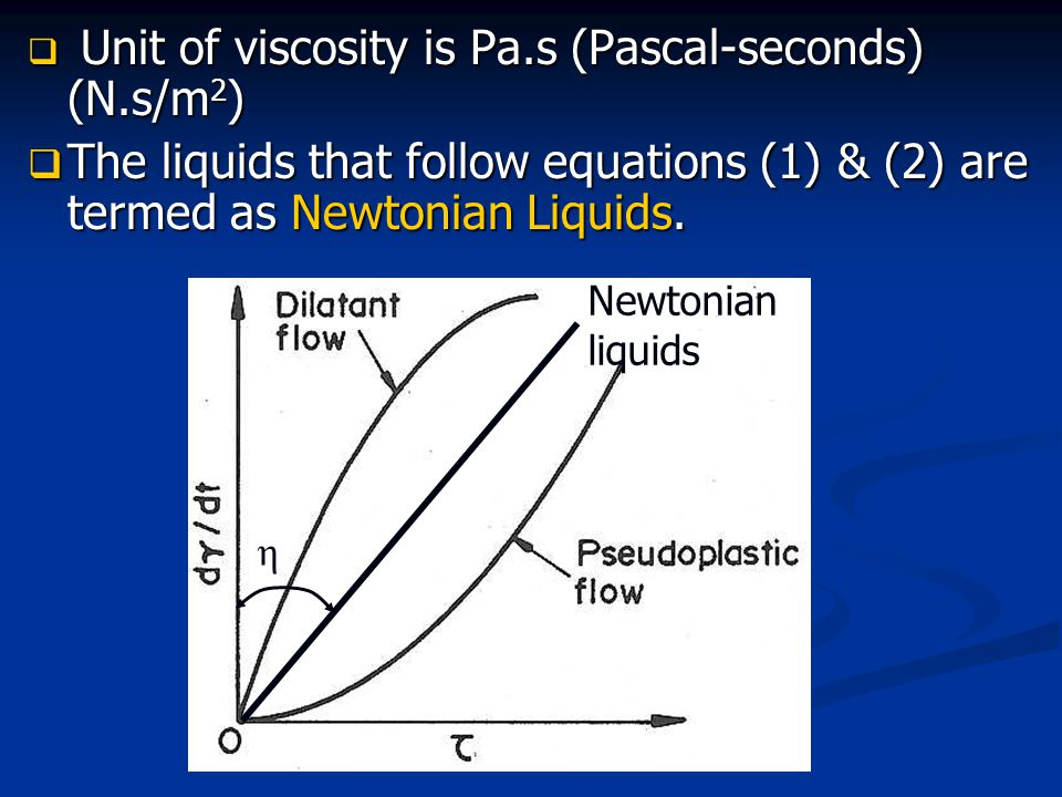  Viscosity also varies with temperature.