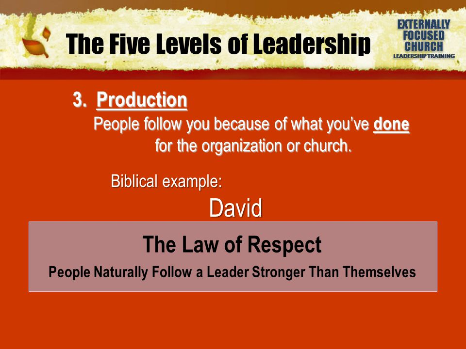 4.People Development People follow you because of what you've done for them.